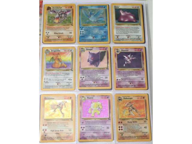 POKEMON CARDS COMPLETE FOSSIL SET INC. 13 FIRST EDITIONS (WOTC 1999 62/62) - 1