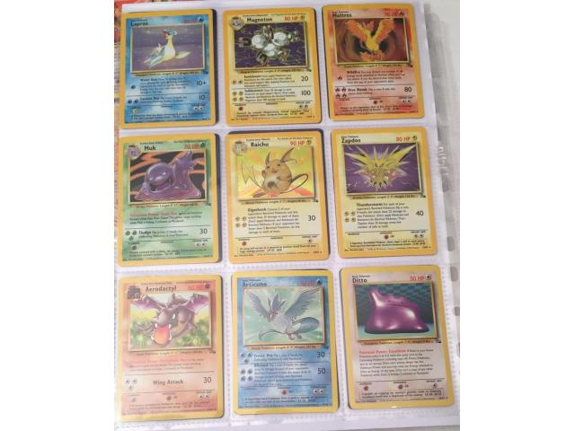 POKEMON CARDS COMPLETE FOSSIL SET INC. 13 FIRST EDITIONS (WOTC 1999 62/62) - 2