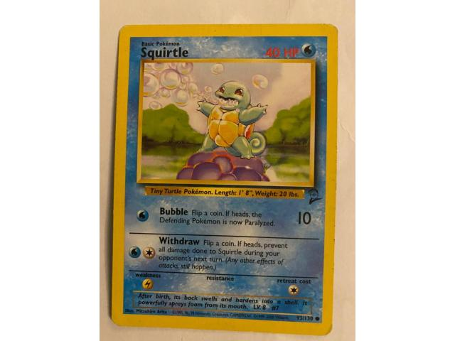 Second edition squirtle - 2