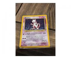 Mewtwo 10/102 Holo Pokemon Card in excellent condition.