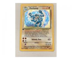 Machamp pokemon card first edition
