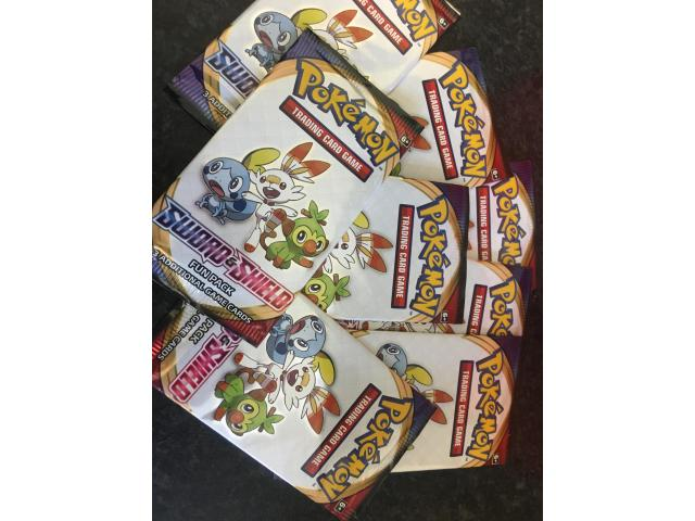 Sword and shield trading cards FUN PACK - 1