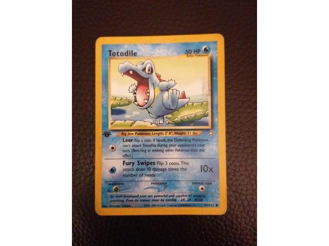 1st edition pokemon totodile - 1